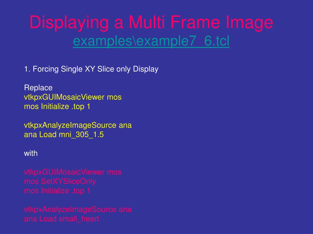 Displaying a Multi Frame Image