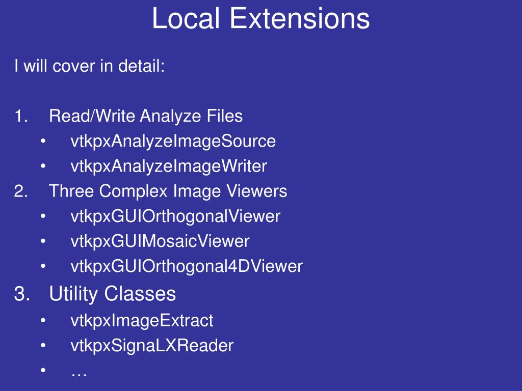 Local Extensions