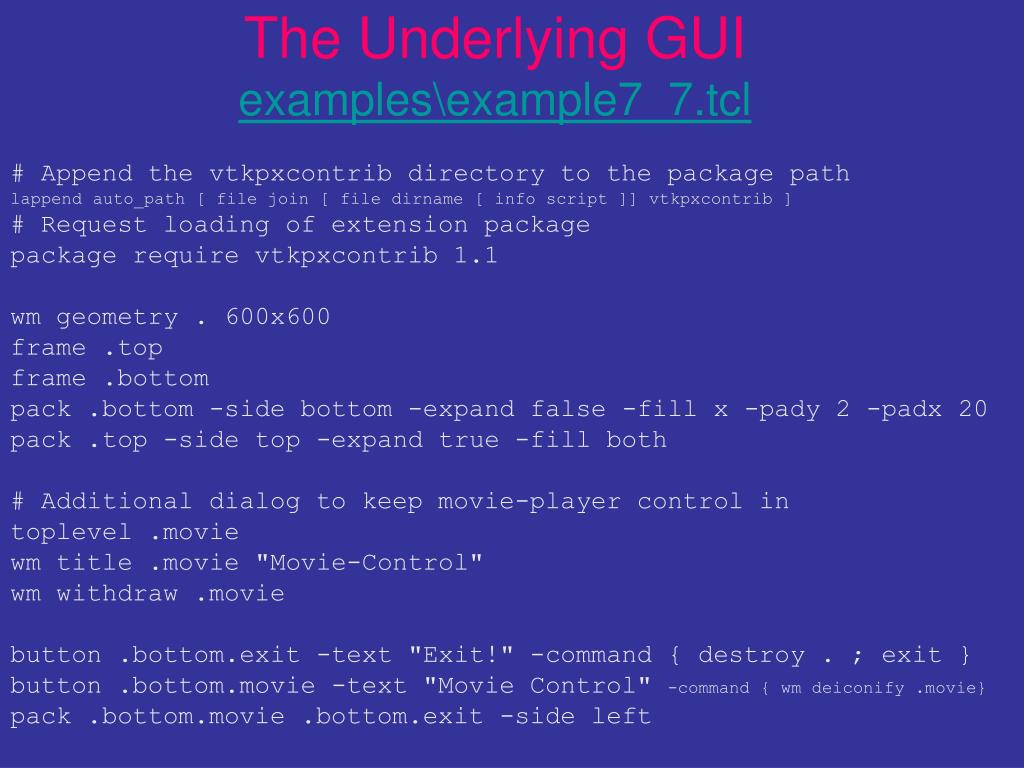 The Underlying GUI