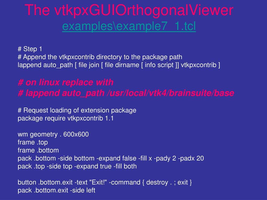 The vtkpxGUIOrthogonalViewer