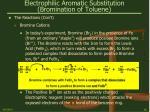 electrophilic aromatic substitution bromination of toluene16