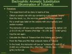 electrophilic aromatic substitution bromination of toluene19
