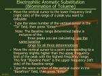 electrophilic aromatic substitution bromination of toluene28