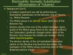 electrophilic aromatic substitution bromination of toluene9