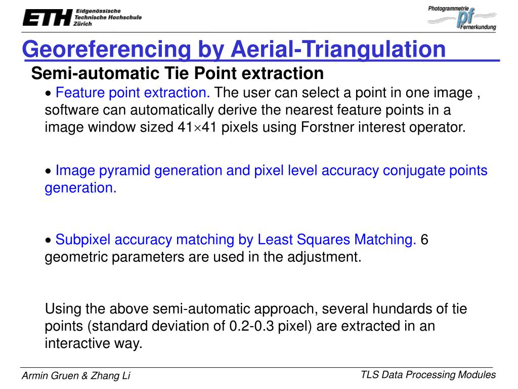 Georeferencing by Aerial-Triangulation