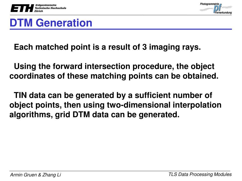 DTM Generation