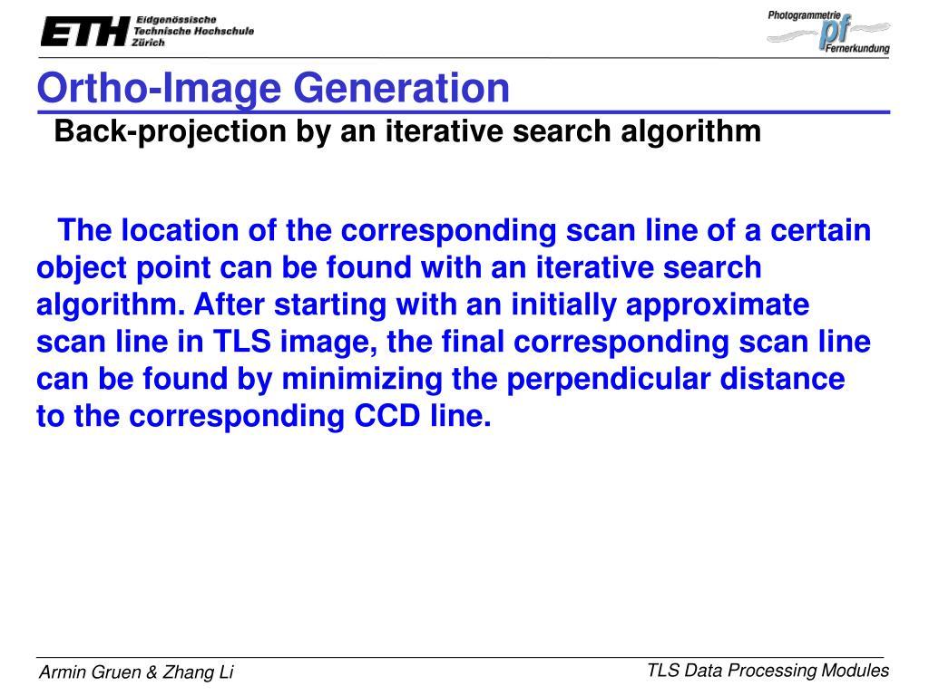 Ortho-Image Generation