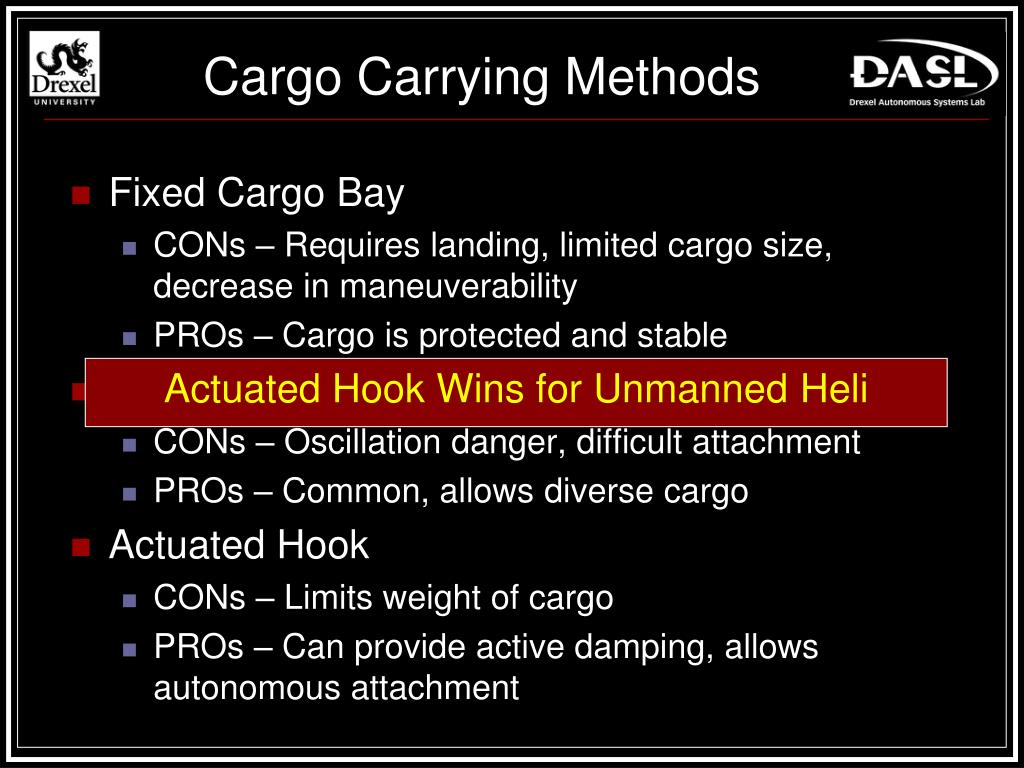 Cargo Carrying Methods
