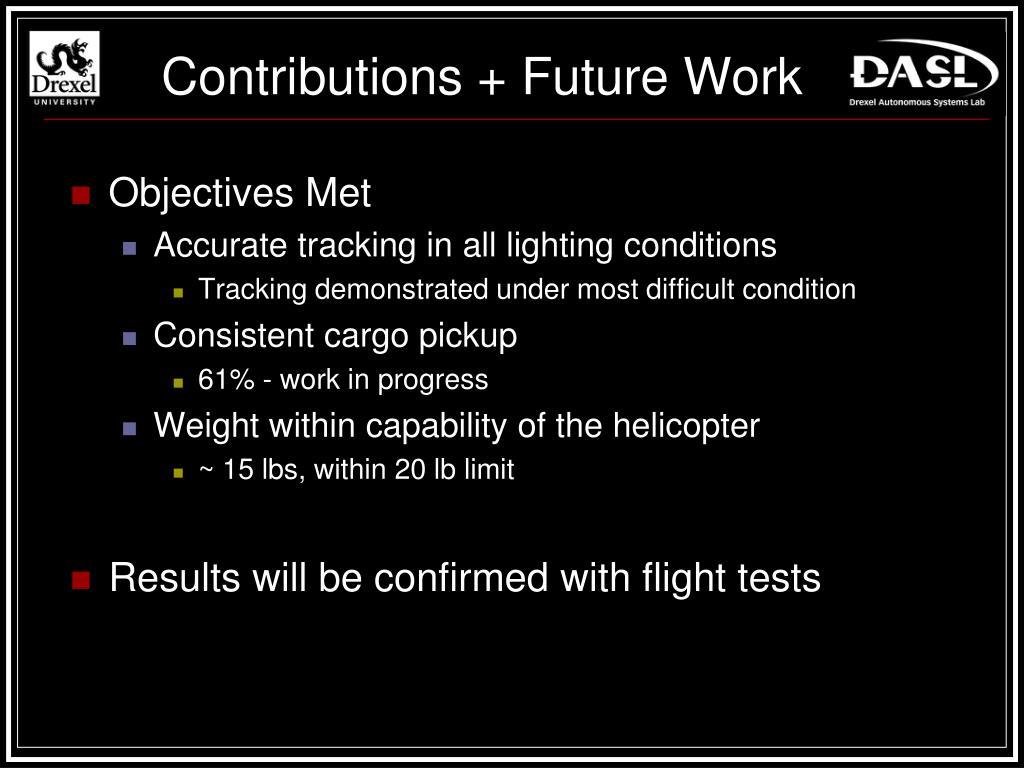 Contributions + Future Work