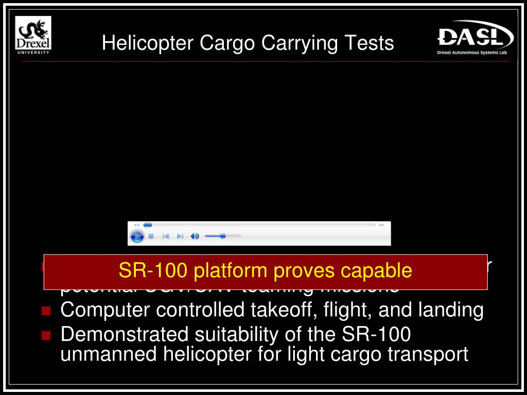 Helicopter Cargo Carrying Tests