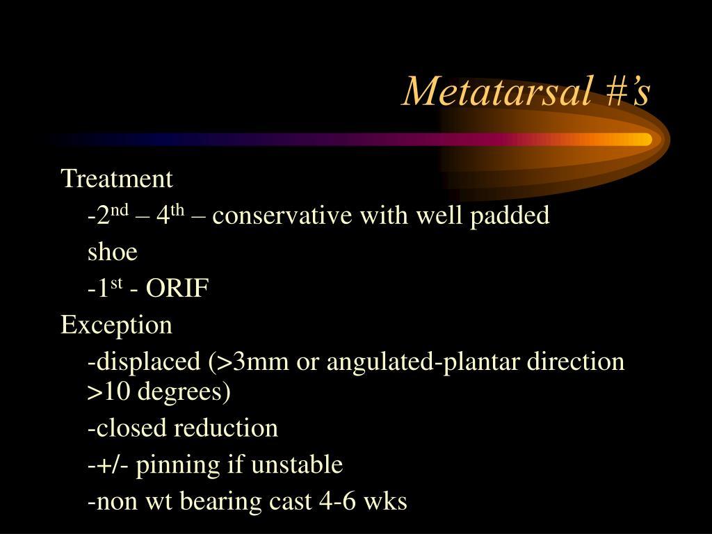 Metatarsal #'s