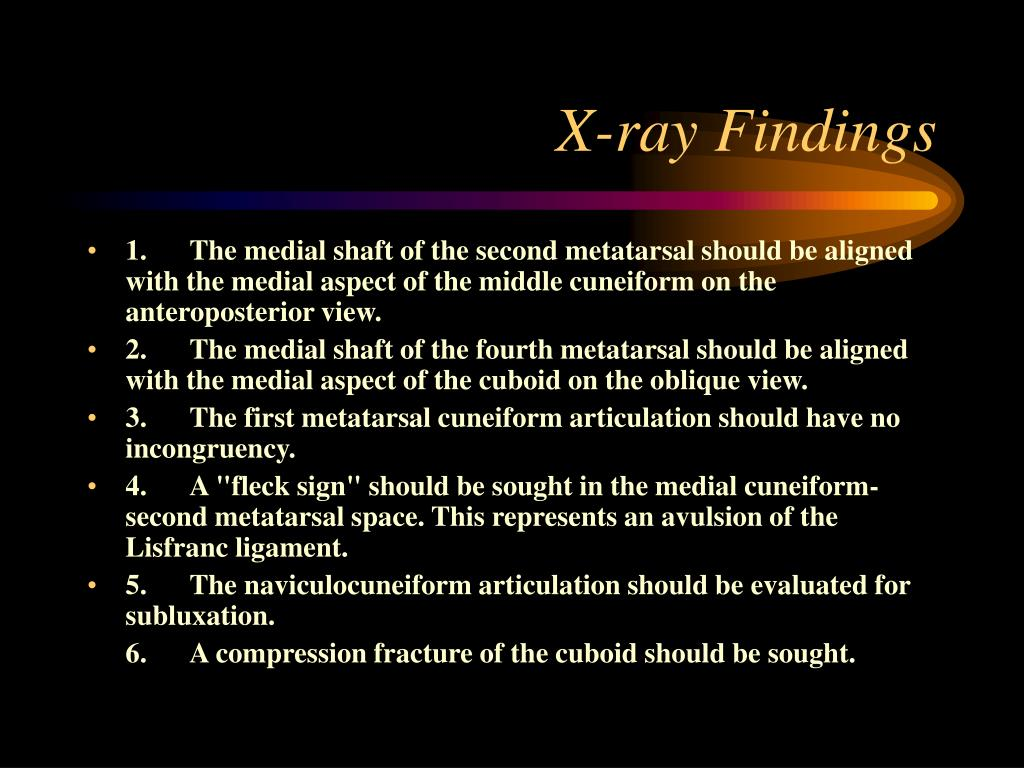 X-ray Findings