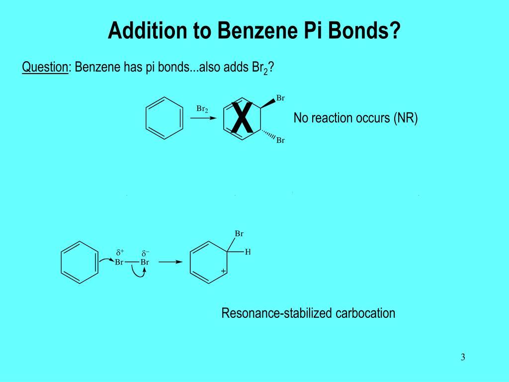 Addition to Benzene Pi Bonds?