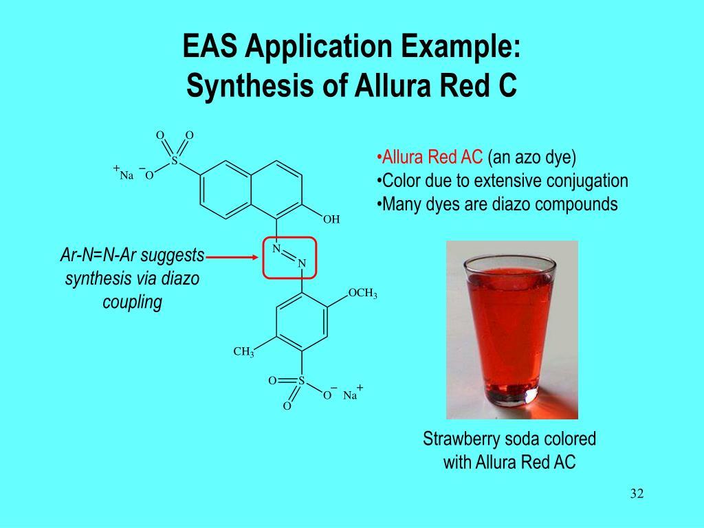 Ar-N=N-Ar suggests synthesis via diazo coupling