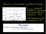 para h 3 is enriched in diffuse clouds