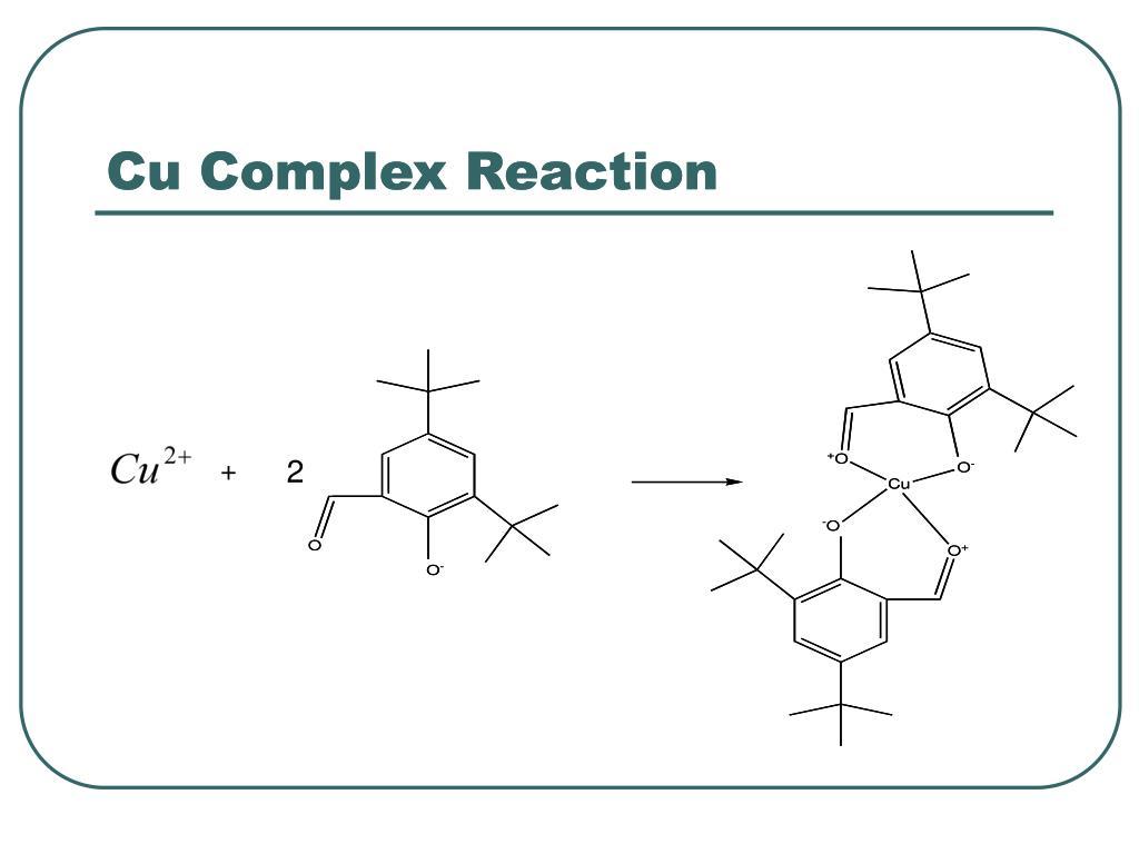 Cu Complex Reaction