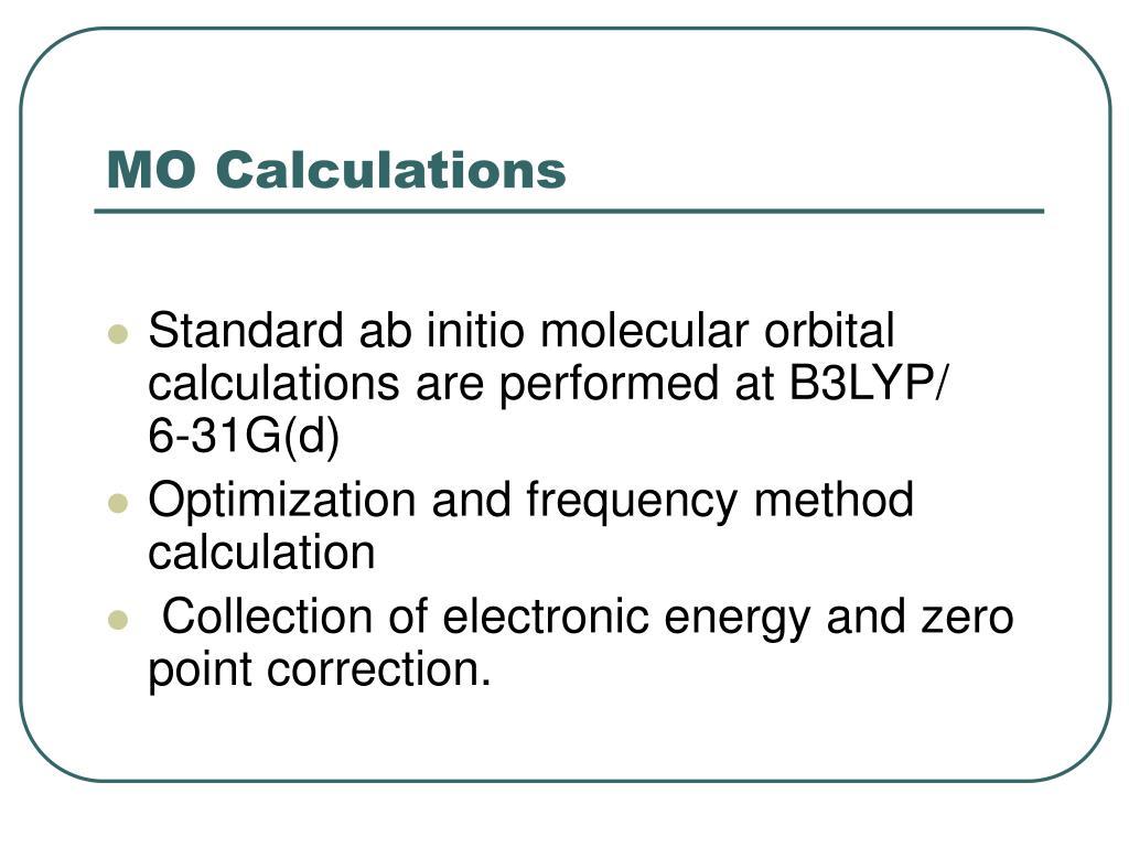 MO Calculations