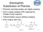 electrophilic substitution of phenols
