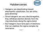 halobenzenes