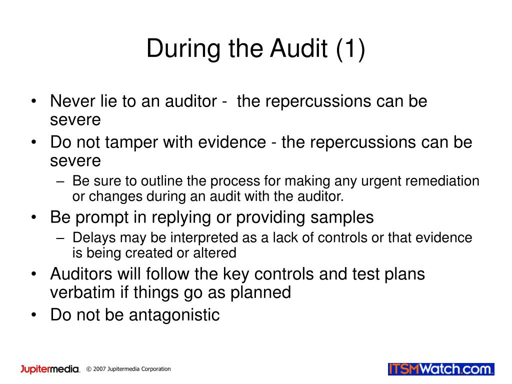 During the Audit (1)