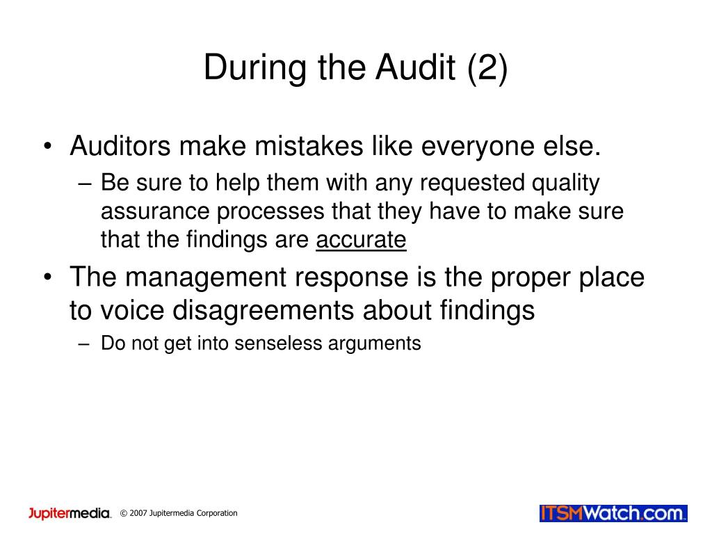 During the Audit (2)