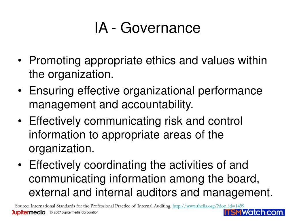 IA - Governance