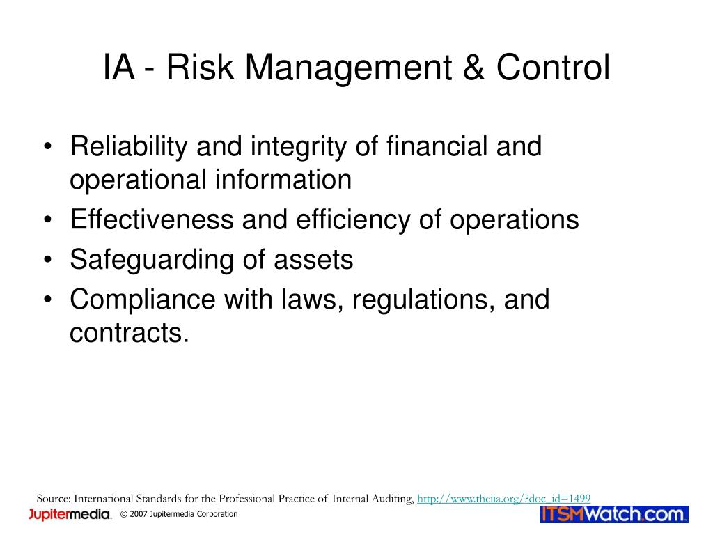 IA - Risk Management & Control