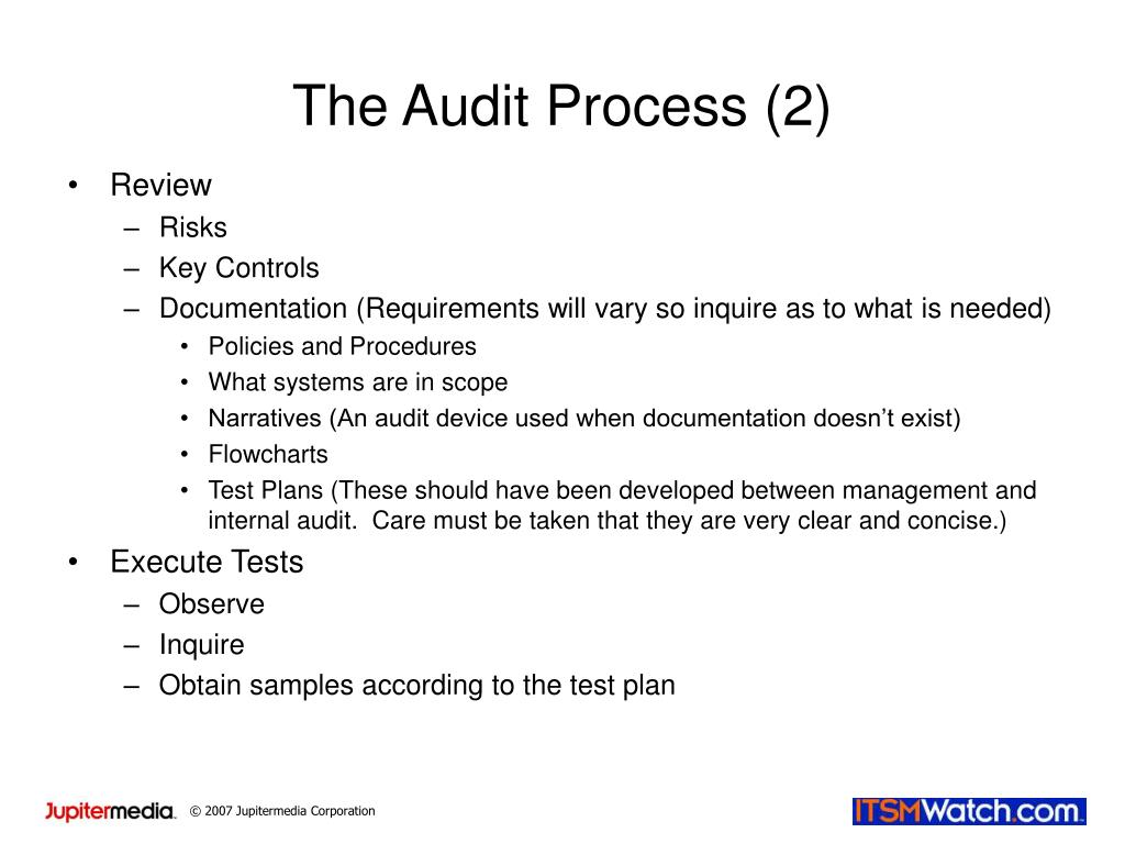 The Audit Process (2)