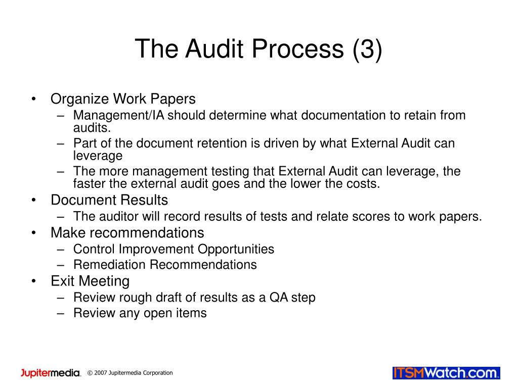 The Audit Process (3)