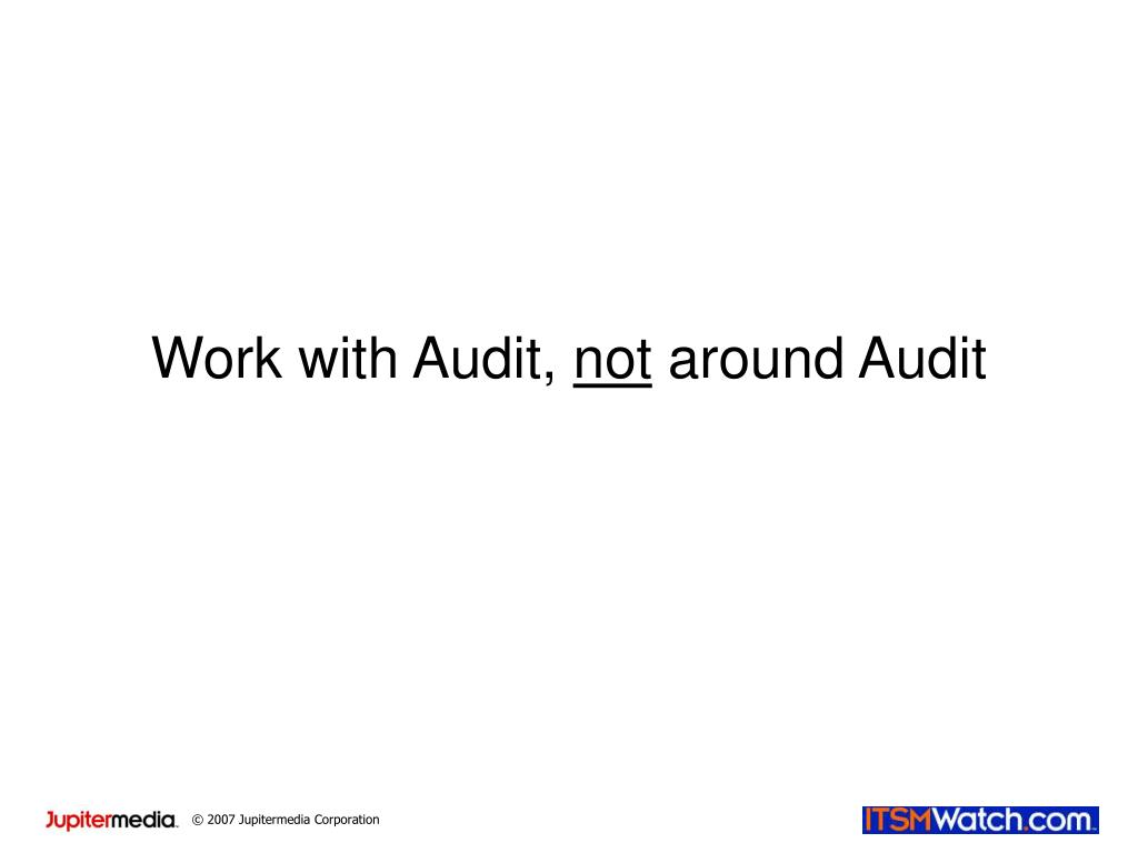 Work with Audit,