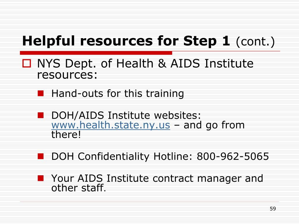 Helpful resources for Step 1