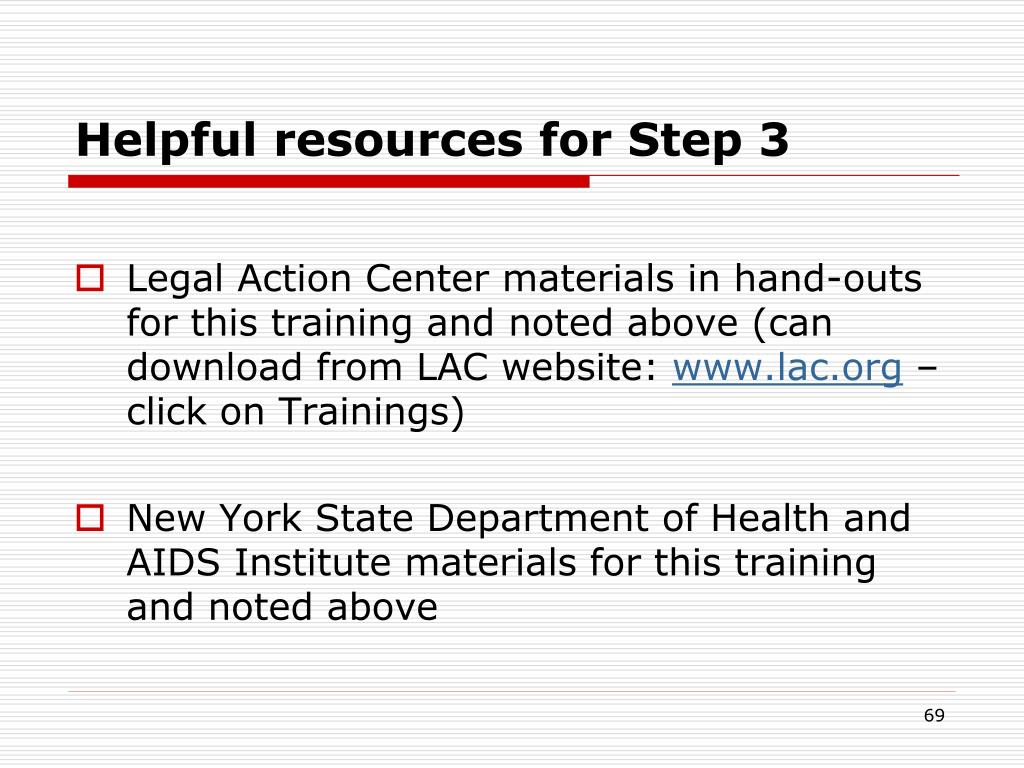 Helpful resources for Step 3