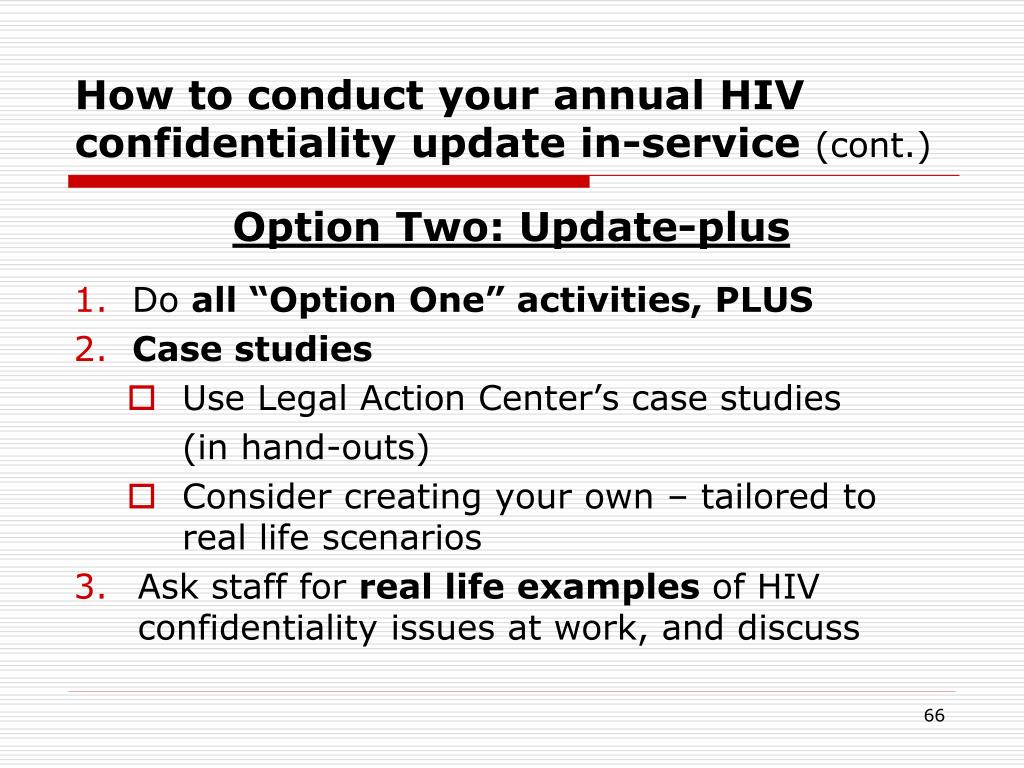 How to conduct your annual HIV confidentiality update in-service