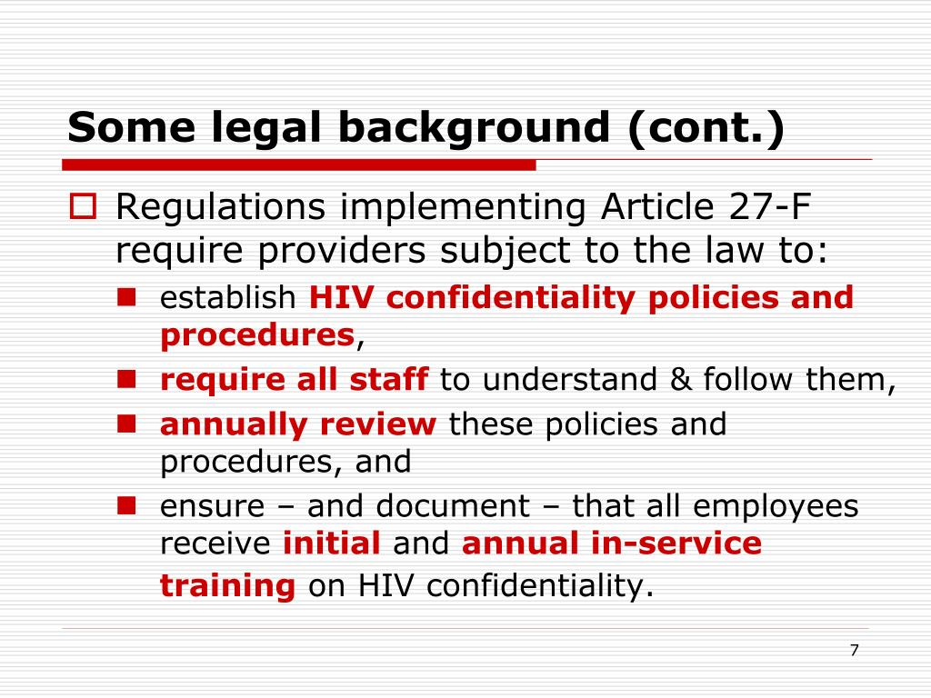 Some legal background (cont.)