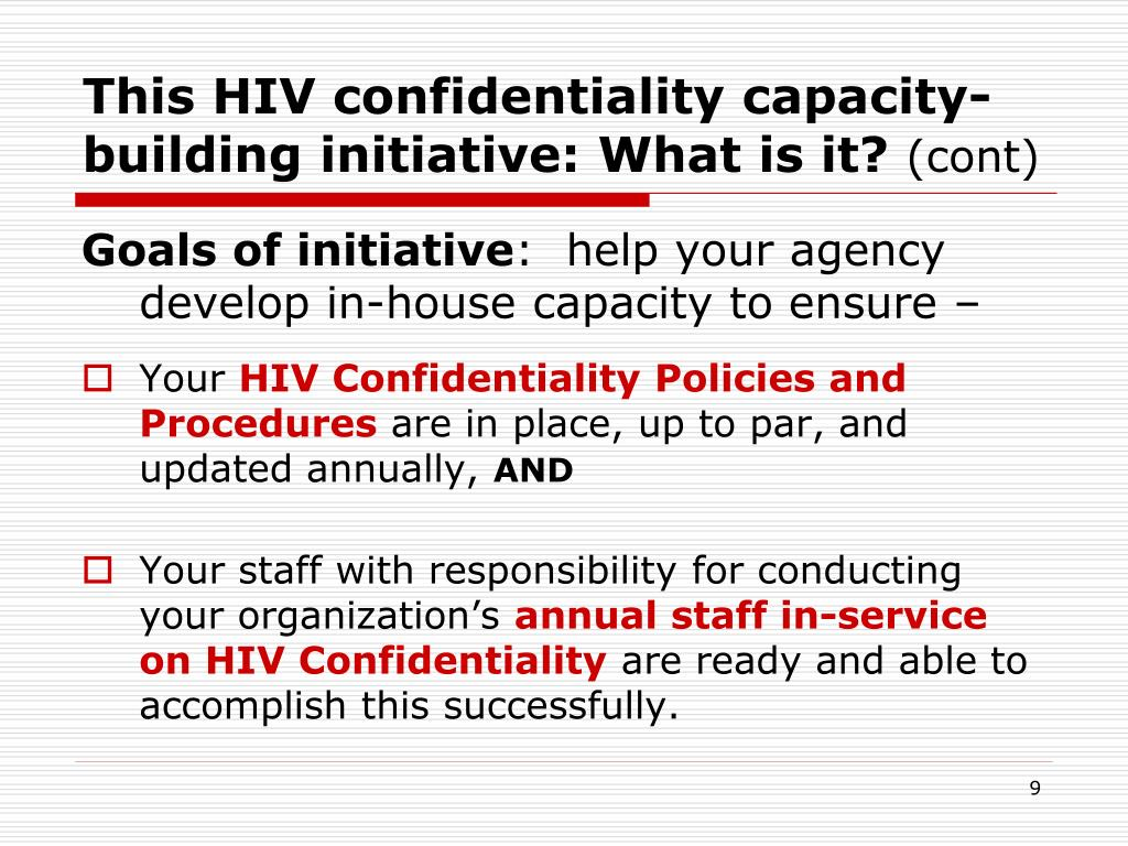 This HIV confidentiality capacity-building initiative: What is it?
