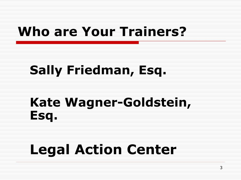 Who are Your Trainers?