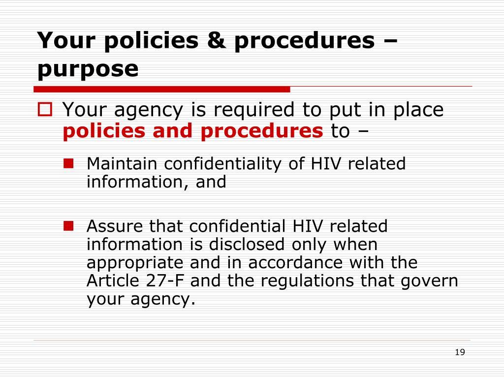 Your policies & procedures