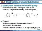 22 1 electrophilic aromatic substitution