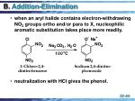 b addition elimination
