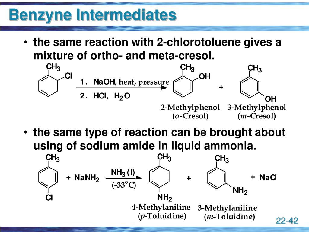 Benzyne Intermediates