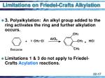 limitations on friedel crafts alkylation17