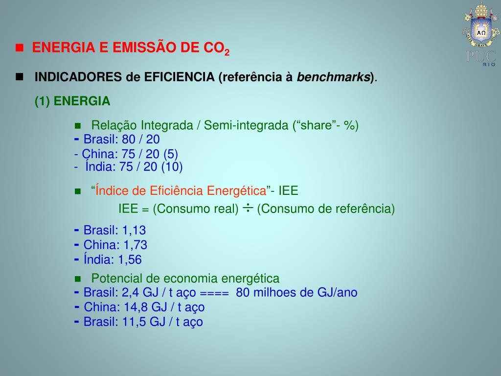 INDICADORES de EFICIENCIA (referência à