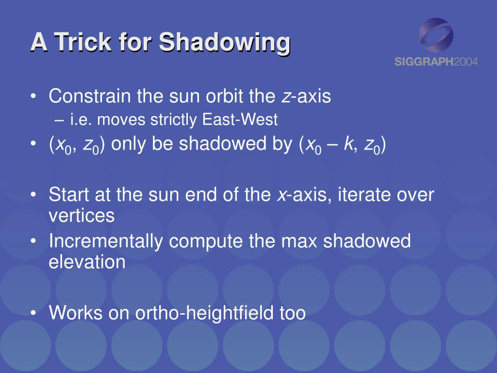 A Trick for Shadowing