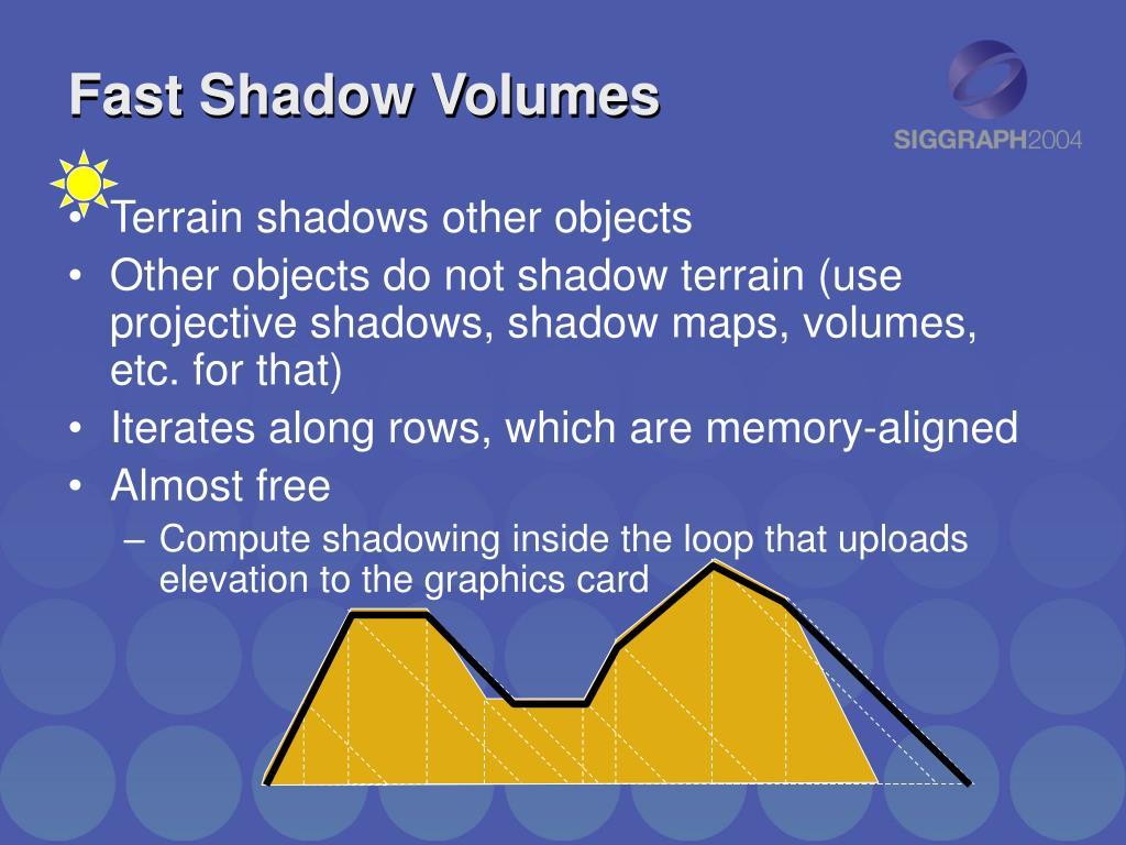 Fast Shadow Volumes