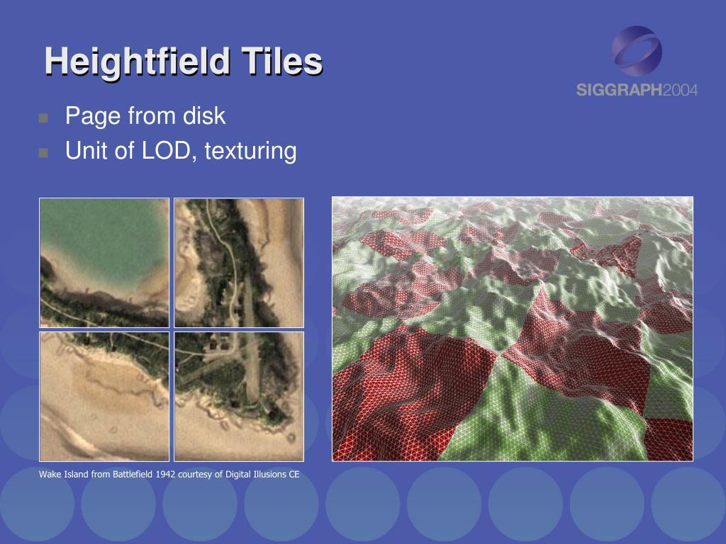 Heightfield Tiles
