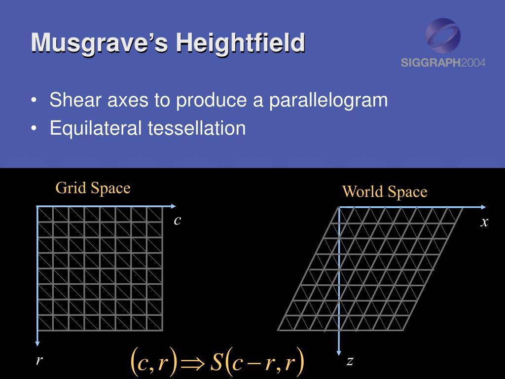 Musgrave's Heightfield