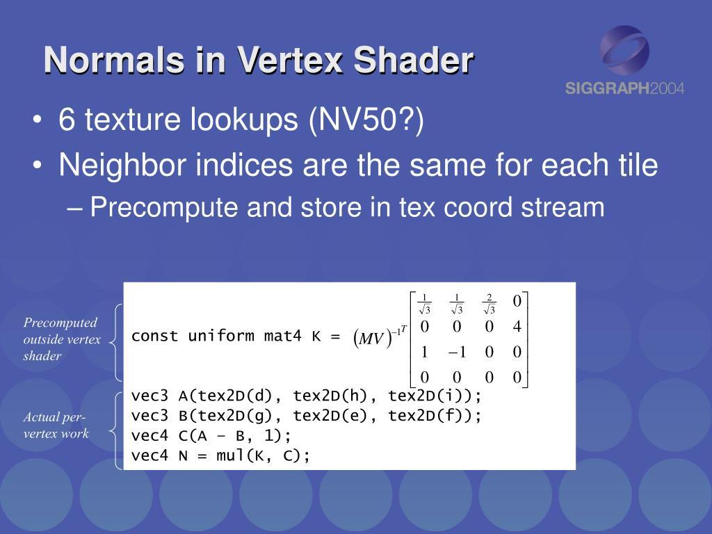 Normals in Vertex Shader