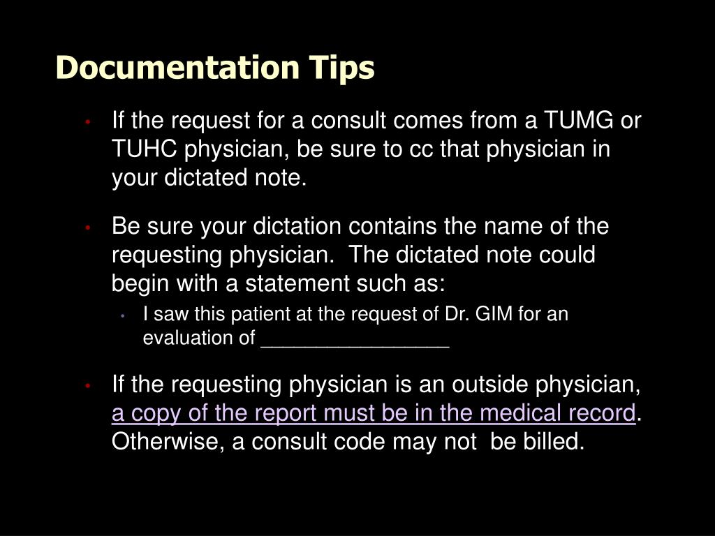 Documentation Tips