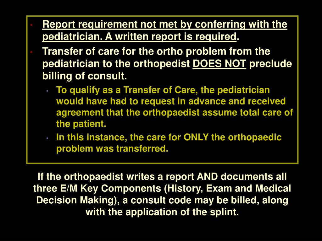 Report requirement not met by conferring with the pediatrician. A written report is required