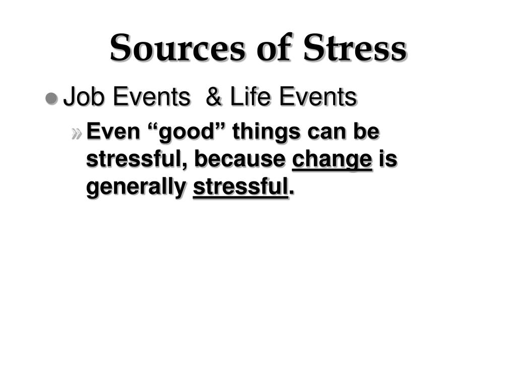 Sources of Stress